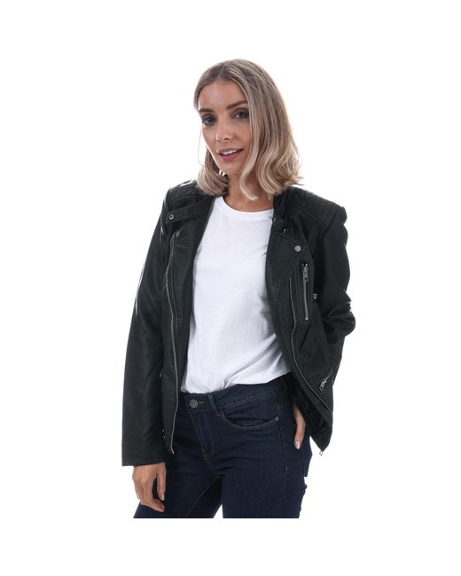 ONLY Black Freya Faux Leather Jacket