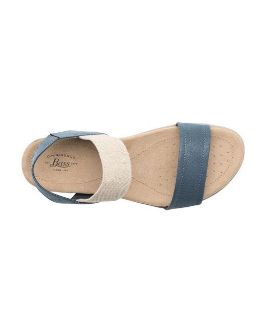 G.H. Bass & Co. | Blue Stephanie Comfort Sandal | Lyst