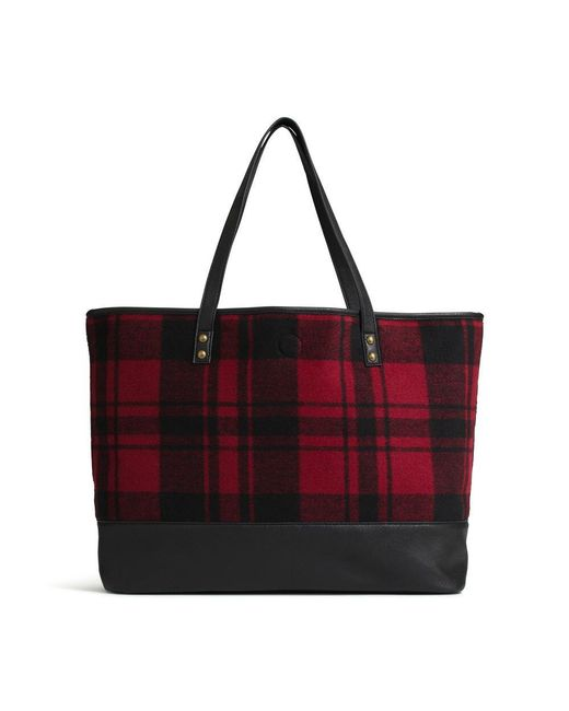G.H. Bass & Co. - Black Flannel Tote - Lyst