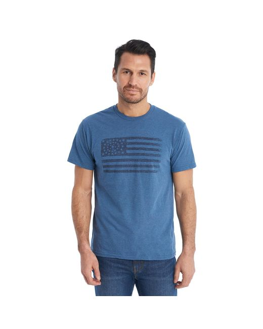 G.H. Bass & Co. - Blue American Flag Graphic Tee for Men - Lyst