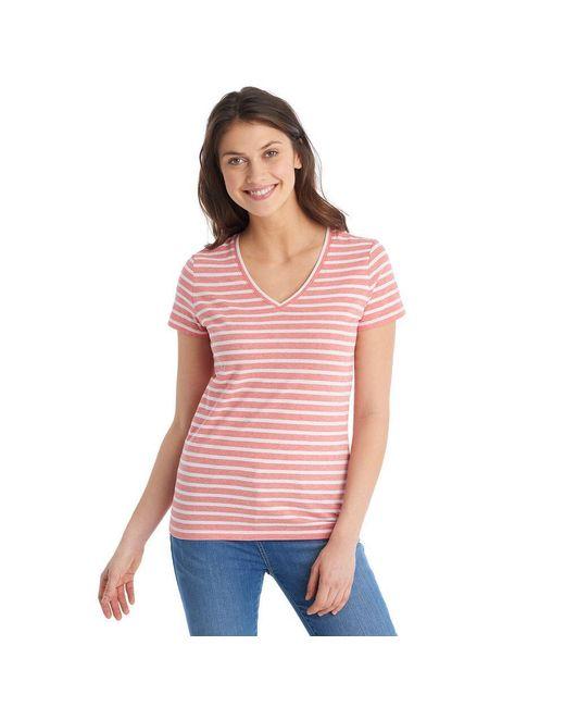 G.H. Bass & Co. - Pink Short Sleeve Stripe Tee - Lyst