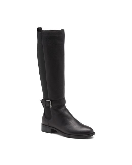 G.H. Bass & Co. | Black Jeandra Waterproof Leather Boot | Lyst