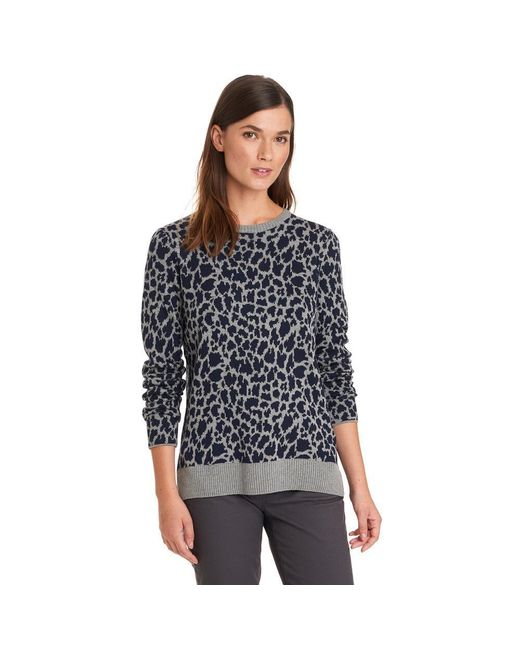 G.H. Bass & Co.   Gray Leopard Pullover Sweater   Lyst