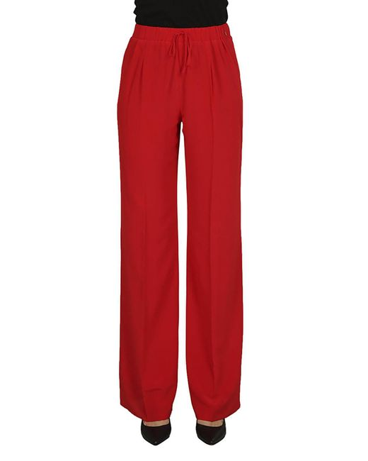 Max Mara - Red MAX MARA Pantalone coulisse rosso - Lyst