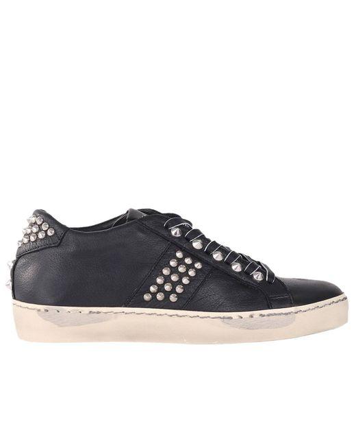 Leather Crown - Black Sneakers Women - Lyst