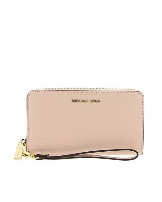 073fe55eb8b4 MICHAEL Michael Kors - Natural Wallet Women - Lyst ...