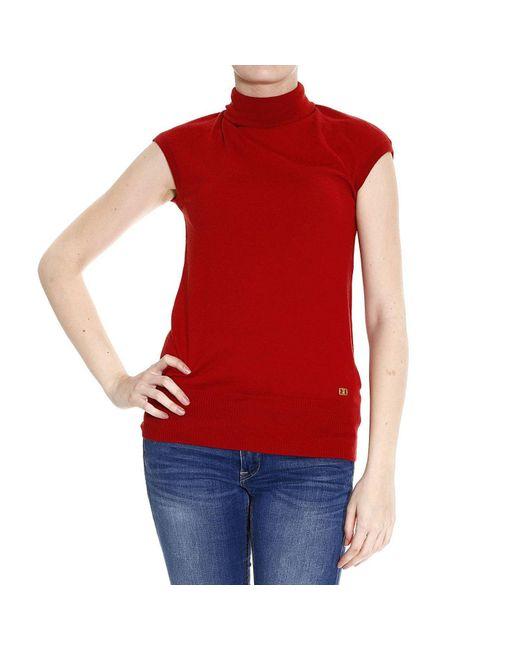 Class Roberto Cavalli   Red Roberto Cavalli Women's Sweater   Lyst