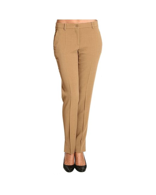 Moschino | Natural Women's Trouser | Lyst