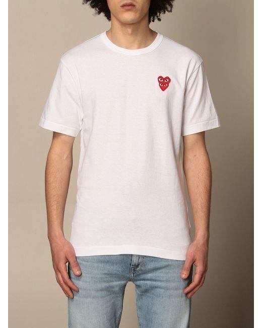 COMME DES GARÇONS PLAY White T-shirt for men