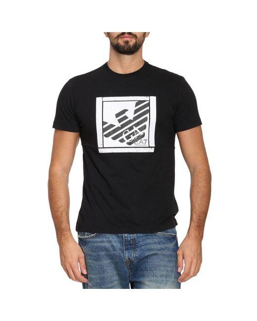 EA7   Black T-shirt Men Ea7 for Men   Lyst