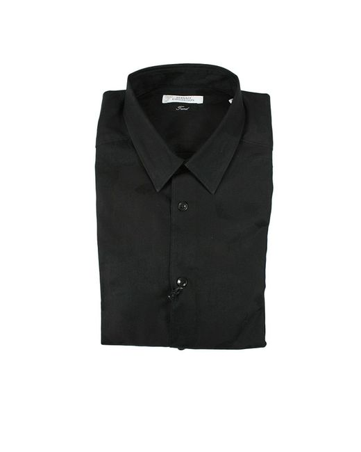 Versace | Black Shirt Cotton Jacquard Ton Sur Ton for Men | Lyst