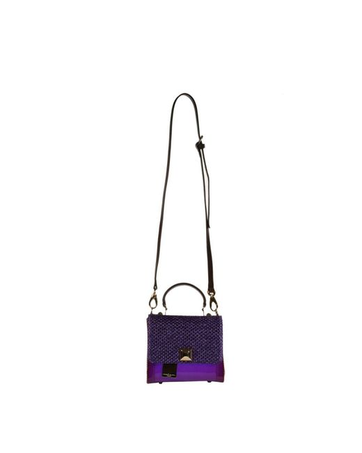 Hervê Guyel | Purple Mini Bags City Gloss Trunk Rafia | Lyst