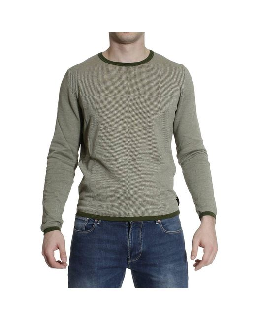 Fendi | Green Sweater Roundneck Cotton Micro Damie for Men | Lyst