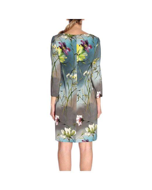 129e3311ef Lyst - Vestido con motivo floral Blumarine de color Gris - 4 % de ...
