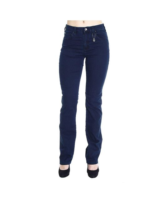 Armani Jeans | Blue Jeans Denim Waist High Gamba Dritta Stretch | Lyst