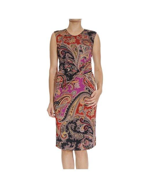 Etro | Natural Women's Dress | Lyst