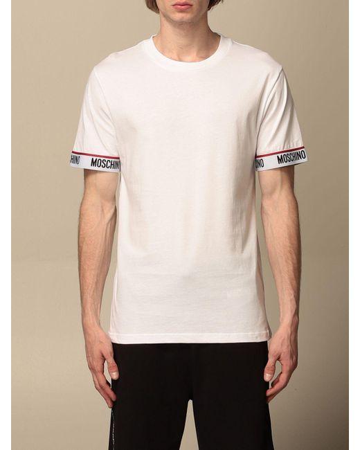 Moschino White T-shirt for men