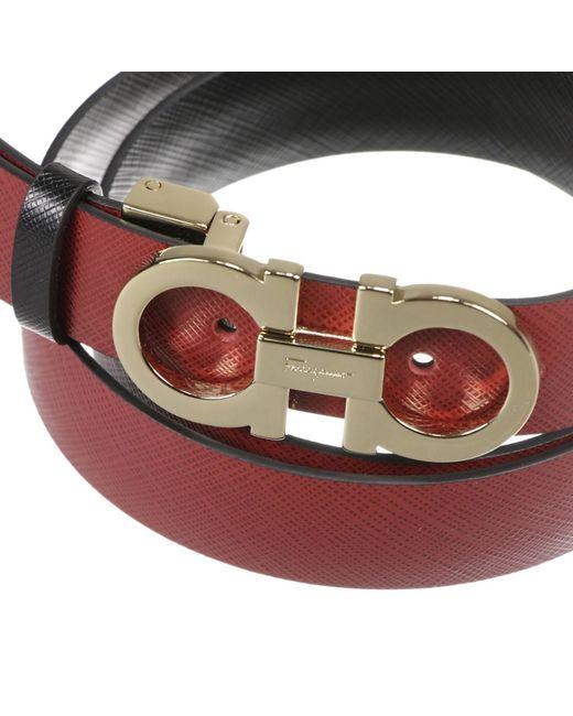 Ferragamo Women's Belt in Red (Black)   Lyst