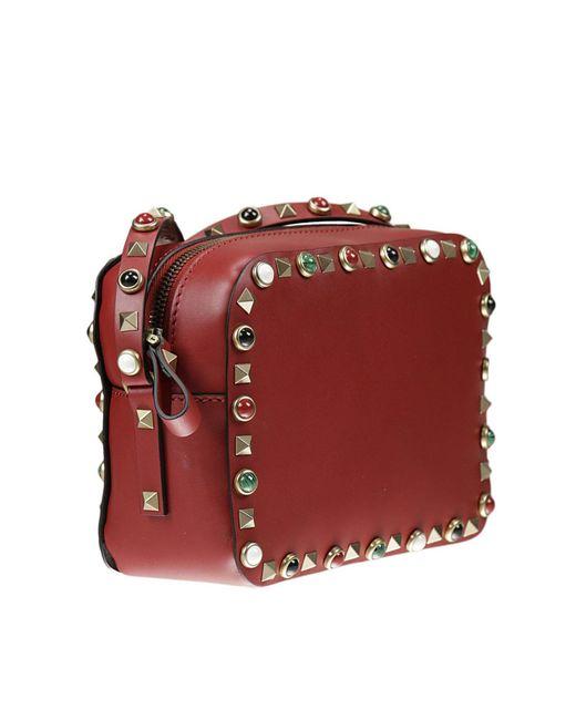 d617ba5496b8 Valentino Red Rockstud Crossbody Bag