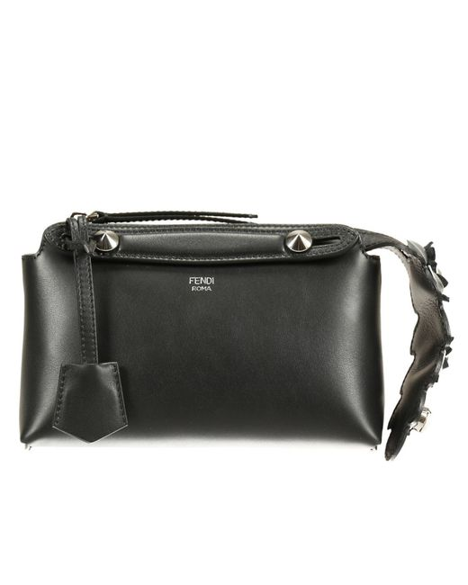 Fendi   Black Leather Front-zip Hobo   Lyst