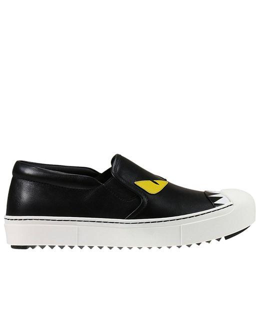 Fendi | Multicolor 20mm Monster Leather Slip-on Sneakers | Lyst