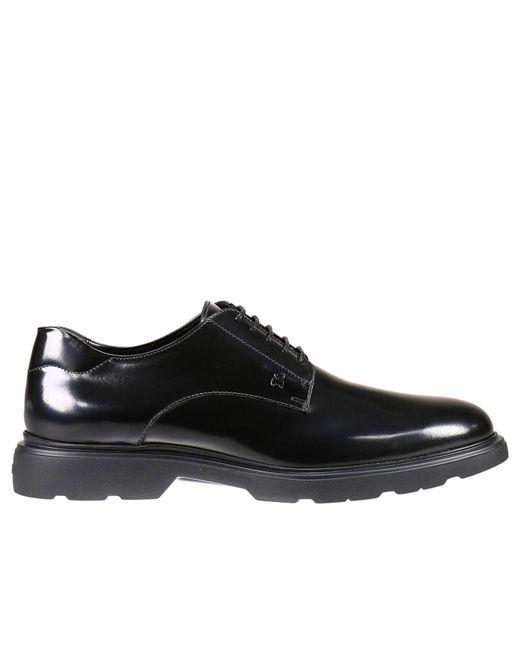 Hogan | Black Lace Up Shoes Man for Men | Lyst