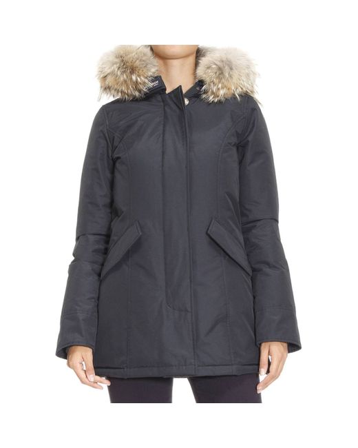 woolrich jackets woman in blue lyst. Black Bedroom Furniture Sets. Home Design Ideas