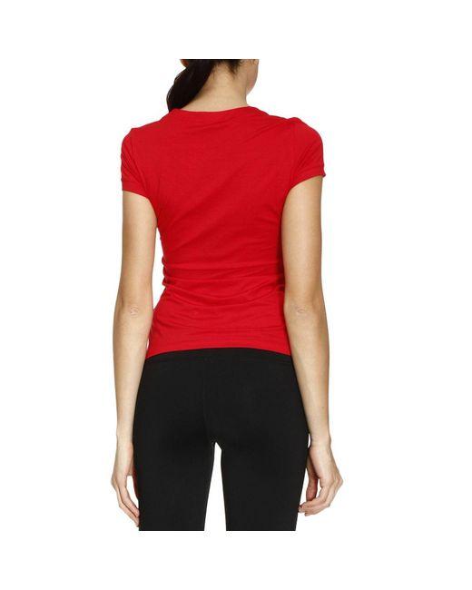 Versace t shirt women in red lyst for Versace t shirts women