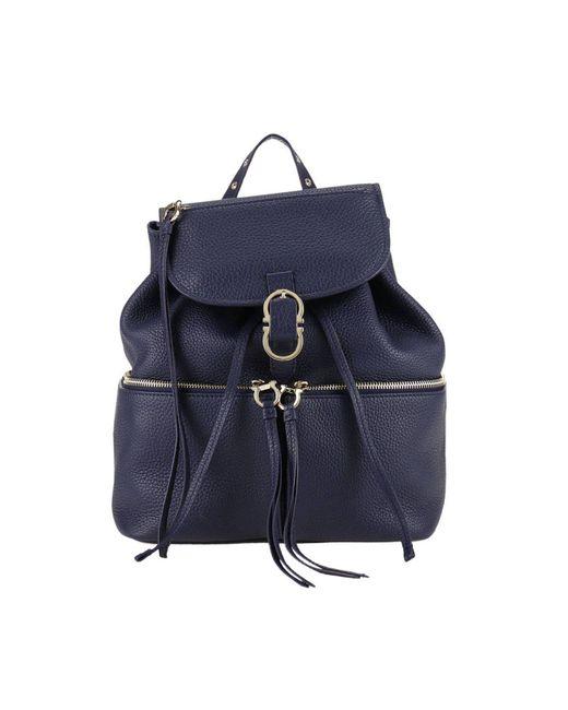 Ferragamo | Blue Backpack Shoulder Bag Women | Lyst