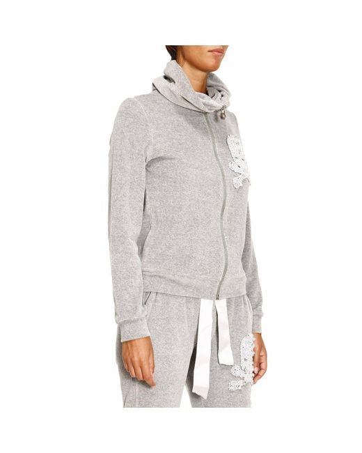 lyst philipp plein sweater women in gray. Black Bedroom Furniture Sets. Home Design Ideas