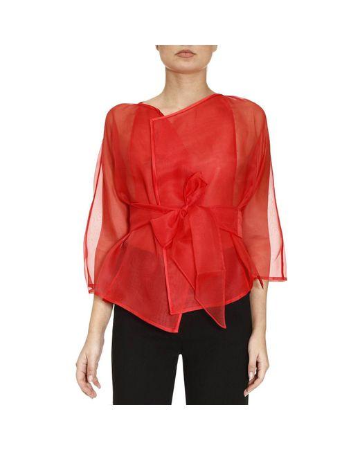 Armani | Red Blazer Women | Lyst