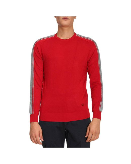 Armani Jeans | Red Sweater Men for Men | Lyst