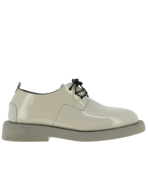 Marsèll Gray Derby Gommello In Shiny Leather With Rubber Sole for men