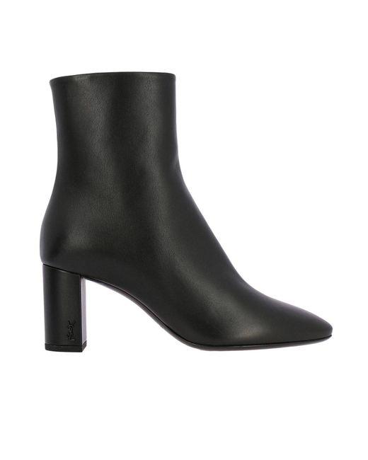 Saint Laurent - Black Heeled Booties Shoes Women - Lyst