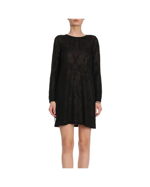 Twin Set - Black Dress Women - Lyst