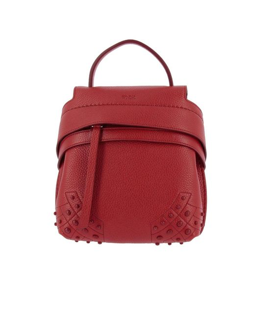 Tod's - Red Backpack Shoulder Bag Women - Lyst