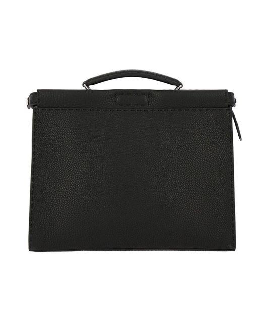 b5b81890e632 Fendi - Black Monster Eyes Small Peekaboo Bag In Grained Leather With  Internal Eyes Bag Bugs ...