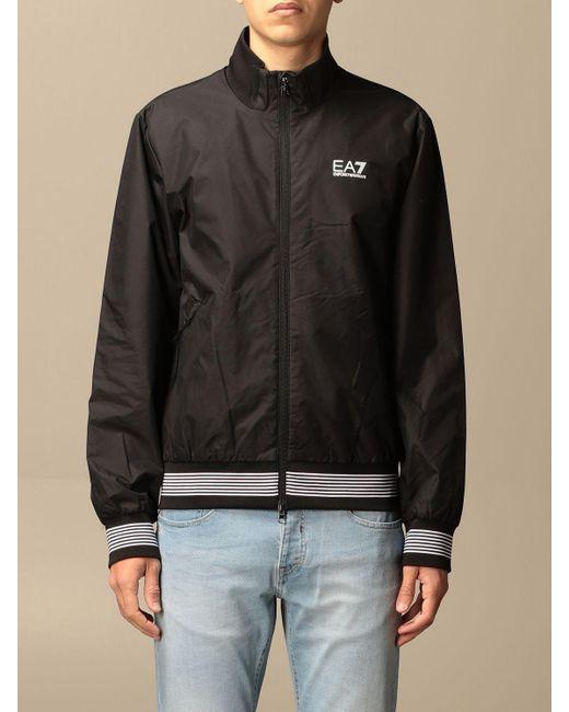 EA7 Black Jacket for men