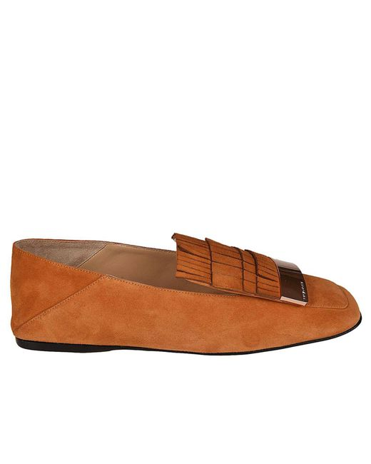 Sergio Rossi - Brown Loafers Women - Lyst