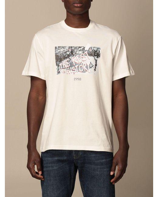 Throwback. White T-shirt for men