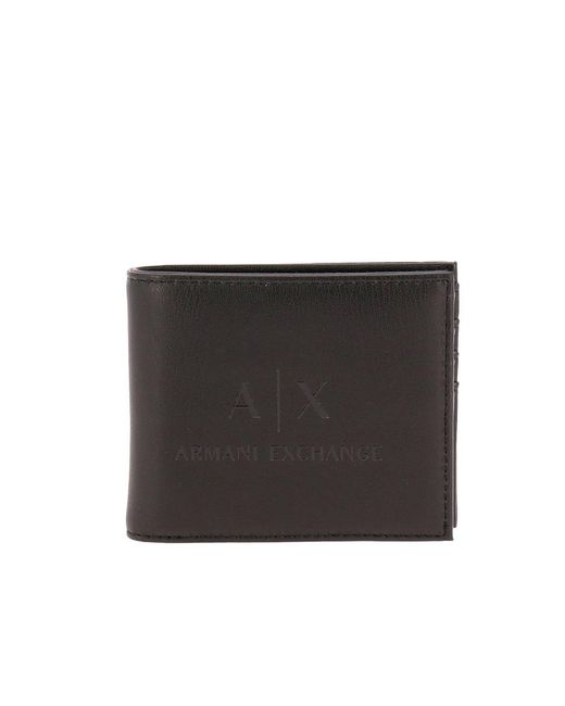 Armani Exchange - Black Wallet Men for Men - Lyst