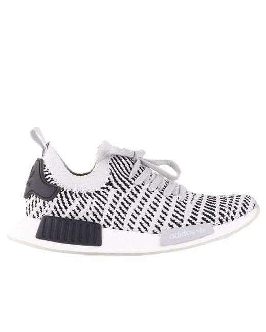 Adidas Originals - White Nmd-r1 Stlt Primeknit Men's Sneakers With Striped Effect for Men - Lyst