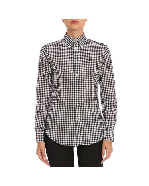Polo Ralph Lauren - Black Slim Fit Gingham Poplin Shirt - Lyst