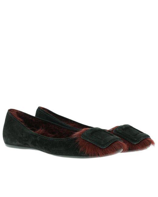 Roger vivier Ballet Flats Shoes Women in Black