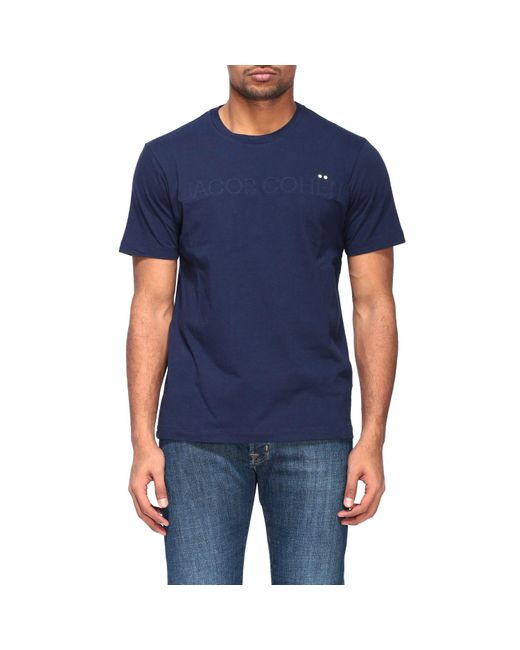 Jacob Cohen Blue Padded Logo T-shirt for men