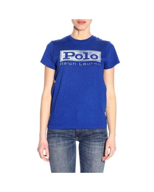 Polo Ralph Lauren - Blue T-shirt Women - Lyst ... 88afcdd0f