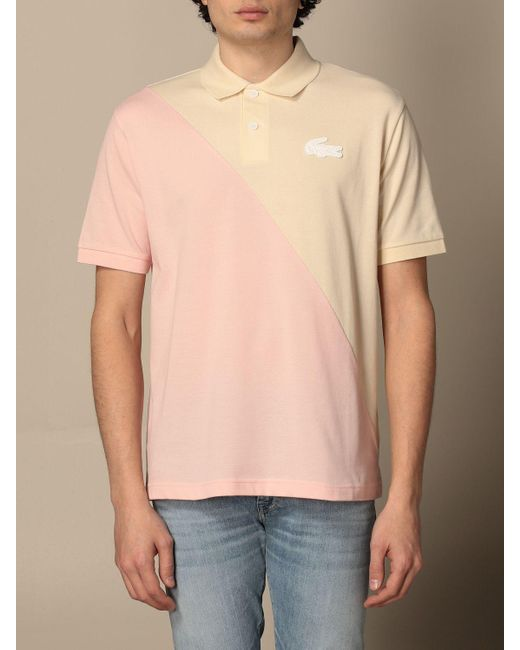 Lacoste Pink Polo Shirt for men