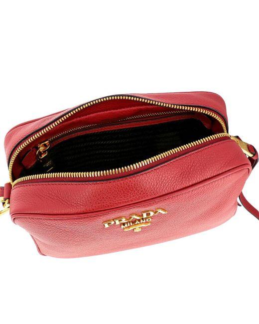 e050a3c25b67 ... Prada - Red Mini Bag Shoulder Bag Women - Lyst ...