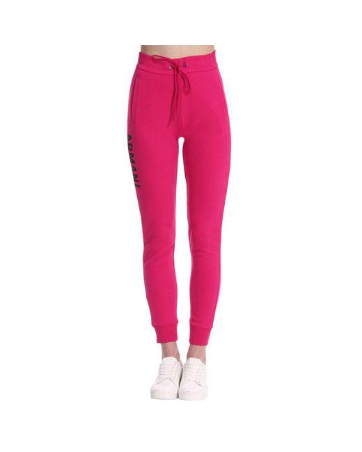 Armani Exchange - Pink Pants Women - Lyst