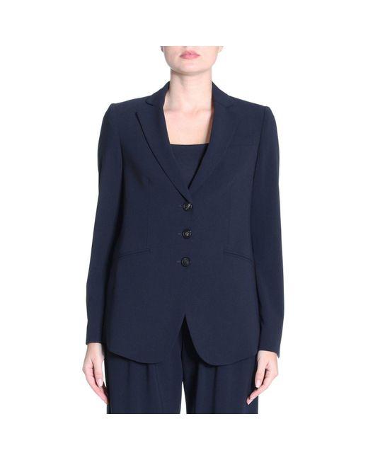 Emporio Armani - Blue Blazer Women - Lyst